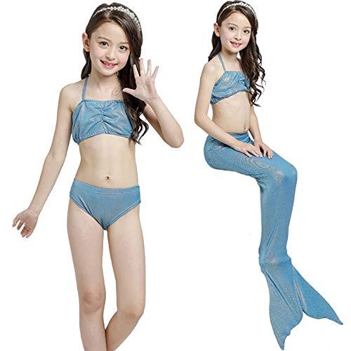 (Asdfooo Mädchen Bademode Damen Einfarbig Badeanzug Meerjungfrau Fischschuppen Damen Badeanzug Schulterfrei Tube Top für Pool Party Strand Schwimmen Neuheit)