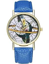 Reloj de Cuarzo para Adolescentes, Estudiantes, Planeta, Cortex, Color Azul