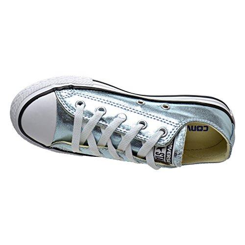 Converse Kids Chuck Taylor All Star Ox Canvas Trainers Metallic Glacier/White/Black