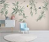 HONGYUANZHANG Chinesischer Blumen-Und Vogelbambus Tapete Des Foto-3D Künstlerische Landschafts-Fernsehhintergrund-Tapete,44Inch (H) X 76Inch (W)