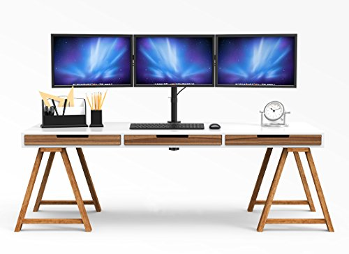 1home Triple furnish Desk Mount LCD LED Computer Monitor Bracket stand 13 24 tv screen TV Monitor Arms Stands