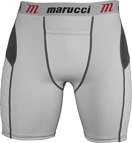Marucci Erwachsene Elite Slider Shorts, Herren, MASL, weiß, m -