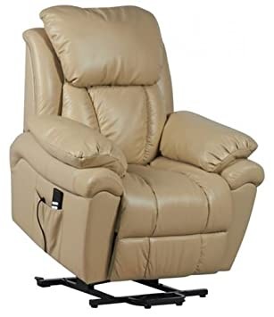 Luxor Dual Motor Leather Riser Recliner Chair Rise u0026 Recline Armchair - Cream  sc 1 st  Amazon UK & Luxor Dual Motor Leather Riser Recliner Chair Rise u0026 Recline ... islam-shia.org