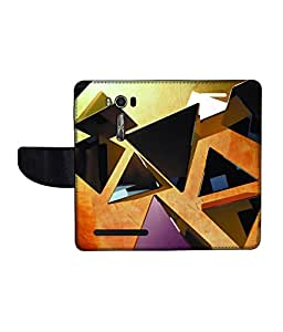 KolorEdge Printed Flip Cover For Asus Zenfone Go 16GB Multicolor - (1478-50KeMLogo11712ZenGo)