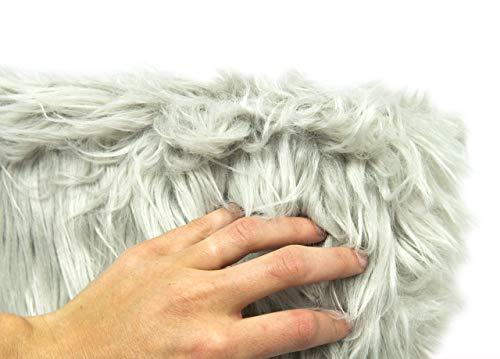 Biancheriaweb sgabello arredo alto con seduta in pelliccia colore beige