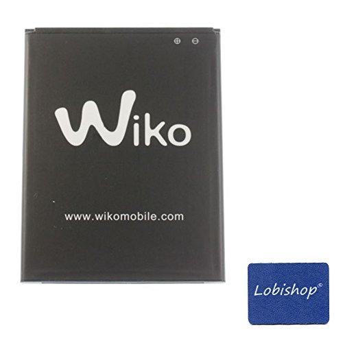 Lobishop Original Batterie Wiko 2500 mAh 9,5Wh pour Wiko Jerry 3 + Screen Cleaner