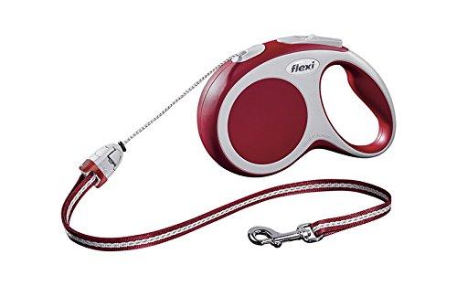 flexi Roll-Leine Vario S Seil 8 m rot für Hunde bis max. 12 kg