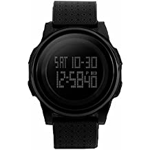 zemge Hombres LCD digital multifunción deportivo reloj de pulsera, al aire libre, temporizador, función de alarma, fecha, multifunción zs0501