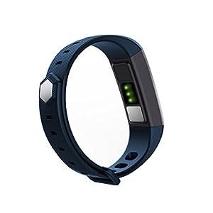 Leotec LEPFIT11B Smartband Heart - Pulsera inteligente con sensores ECG y PPG capaz de realizar un electrocardiograma, medir la tensión arterial y con monitor dinámico de ritmo cardíaco, azul
