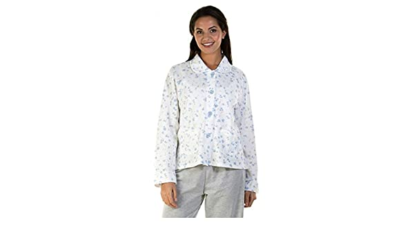 NEW LADIES /'PRIMROSE/' QUILTED BUTTON FRONT BED JACKET WITH POCKETS *LA MARQUISE*