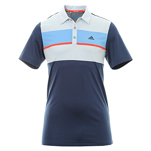 Adidas ClimaCool Chest Block Polo-Shirt Golf Shirt, Herren XL dunkelblau (Polo Climacool Golf)