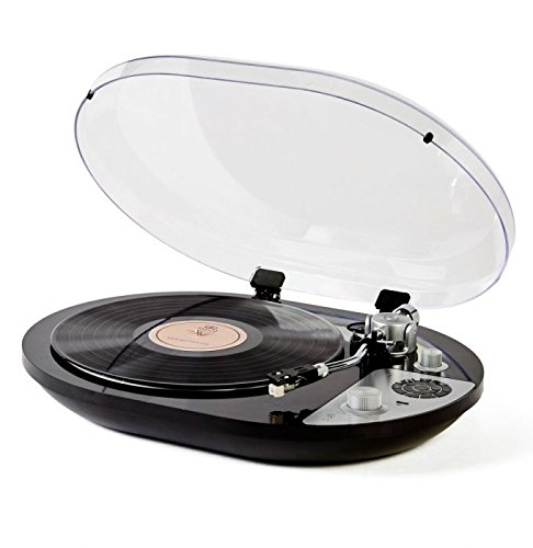 GPO PR 50 Turntable Bluetooth Built in Pre Amp Audio TechnicaCartrigde Gloss Black