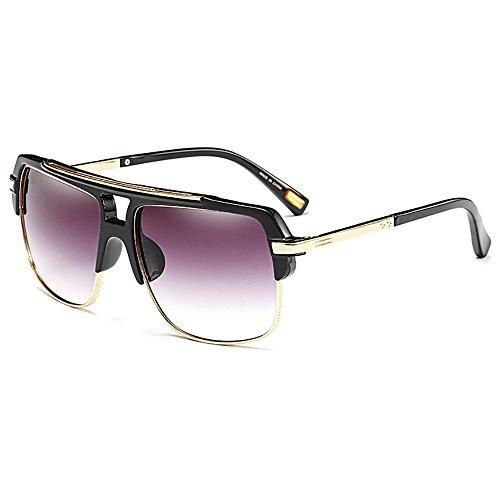 SHEEN KELLY Herren Sonnenbrille Sport brille Square Brille Fahrer brille Damen Herren Gold UV400