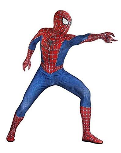 Girl Show Adult Kostüm - ZHANGQI Spiderman Show Kostüm Halloween Cosplay Kostüme Unisex Lycra Spandex Zentai 3D Style Dye-Sub Body Mit Abgenommener Maske,Adult-L
