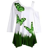 Damen Bluse,Geili Damen Herbst Schulterfrei Langarm T-Shirt Oberteile Große Größe Frauen Schmetterling Druck Casual... preisvergleich bei billige-tabletten.eu
