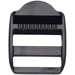 25mm Plastique Échelle Slider ajuster Lock Boucles pour bretelles de sac à dos Sangle 2,5cm Lot de 10