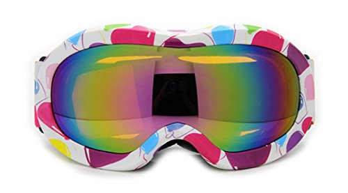 3-7 Jahre Alte Kinder Farbe Ski Brille Doppel Anti-Fog Winddicht,9-OneSize