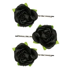 Alpenflüstern Trachten-Haarklammern Rosen-Blüten 3er-Set in Traditionellen Farben ADV110