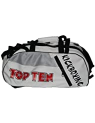 Top Ten Blanco Kickboxing Deportes y Lona Mochila - Mediana