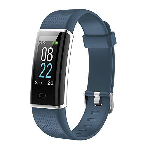 YAMAY Fitness Armband,Wasserdicht IP68 Fitness Tracker mit Pulsmesser 0,96 Zoll Farbbildschirm Aktivitätstracker Fitness Uhr Smartwatch Pulsuhren fitnessarmband Schrittzähler Uhr für Damen Herren -