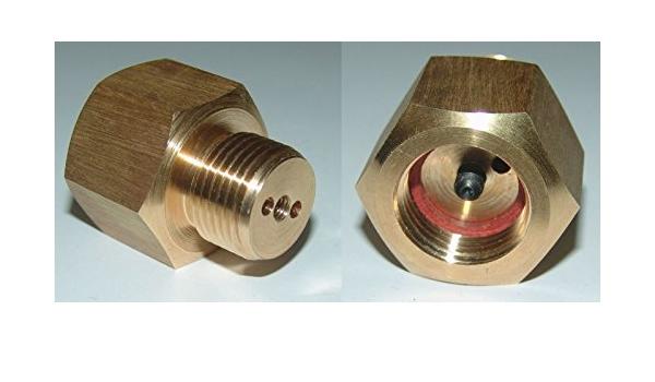 Fülladapter für Kohlensäure//Edelgas für Ventile mit Restdruckventil