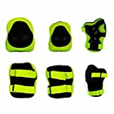 TOOGOO 6pcs/set Skating Cycling Roller Protective Gear Set Knee Pads Elbow pads Skateboard Ice Skating Wrist Protector For Kids green
