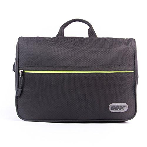 Trousse de Toilette, GOX Premium Imperméable 420D Nylon Sac Rangement Cosmétique Trousse de Voyage / One-Day Pack Bag / Voyage Organisateur avec crochet (Noir, Petite Taille)