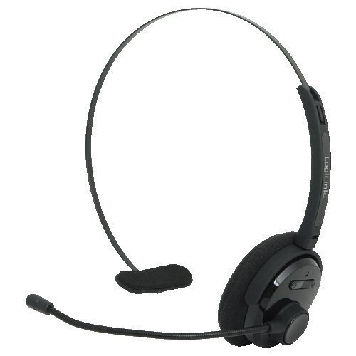 Logilink Bluetooth 3.0 Mono Headset Kopfbügel für PC Smartphone Handy BT0027 für Apple iPhone iPad Mac iMac MacBook Samsung Galaxy Note Tab 1 2 3 4 5 6 Plus Android Tablet