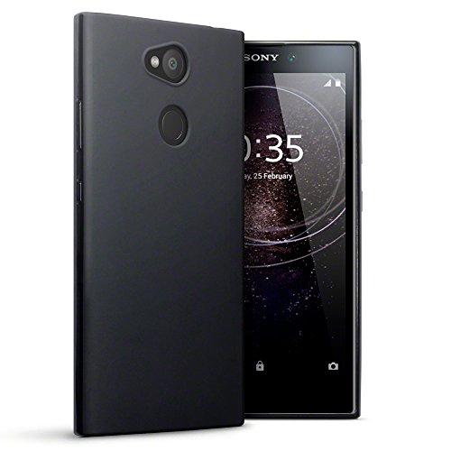 Terrapin, Kompatibel mit Sony Xperia L2 Hülle, TPU Schutzhülle Tasche Case Cover - Matt Schwarz