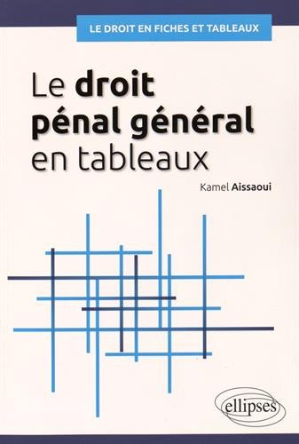 Le droit pénal général en tableaux par Kamel Aissaoui