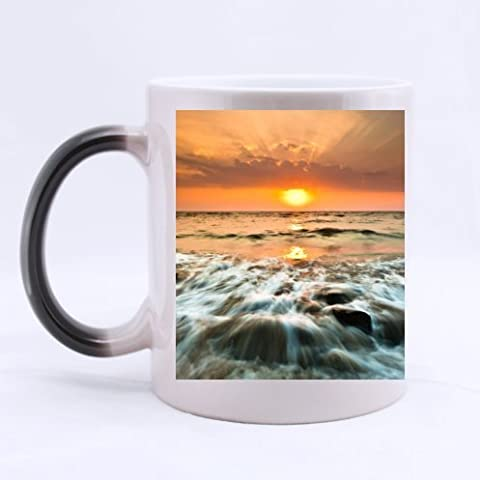bravovision Custom Morphing Taza, hermosa puesta de sol paisaje, 11-oz