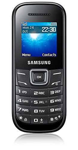 Samsung E1200 Handy (3,9 cm (1,52 Zoll) Display, Dual-Band, Worterkennung) black