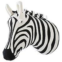 TOOGOO 3D Animal Head Wall Cute Stuffed Wall Hanging Toys Kids Room Animal Wall Sculptures-Zebra