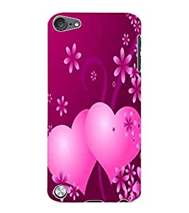 ColourCraft Love Hearts Design Back Case Cover for APPLE IPOD TOUCH 5