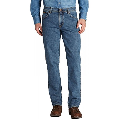 Wrangler - Texas - Jeans - Homme Bleu jean délavé