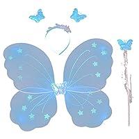 Etopfashion Fairy Xmas Party Dress Up Butterfly Wing Wand Headband Costume 3Pcs/set