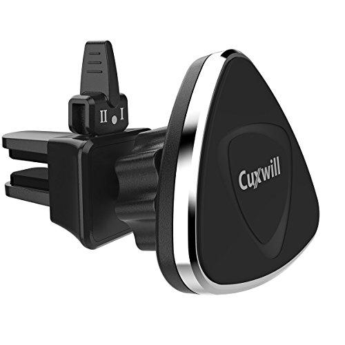 Handyhalterung Auto Cuxwill 360° drehbar Lüftung Universale KFZ Handyhalterung Handy Halterung Autohalterung Lüftung Magnet Lüftung Handyhalterung für iPhone,Samsung,HTC,Huawei,Sony,Nokia,LG (schwarz)