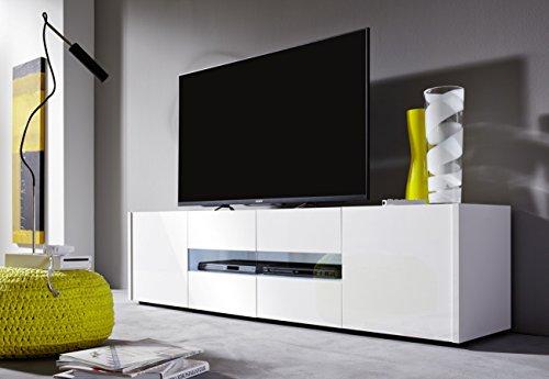 trendteam IM32201 TV Möbel Lowboard weiss Hochglanz lackiert, BxHxT 173 x 45 x 39 cm - 3