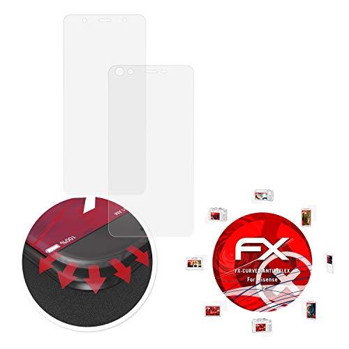 atFolix Schutzfolie passend für Hisense A2 Folie, entspiegelnde & Flexible FX Bildschirmschutzfolie (3er Set)