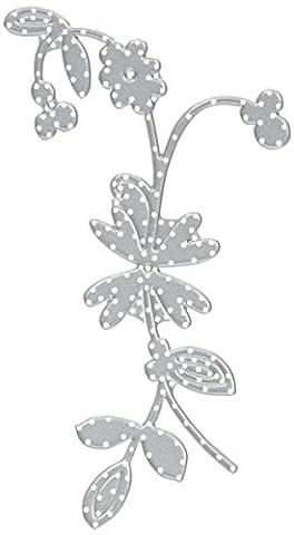 Sizzix 661045 Thinlits Die Set Matrice Fleur Enchantée par Emily Atherton Acier Carbone Multicolore 23,5 x 8 x 0,5 cm 2 Pièces