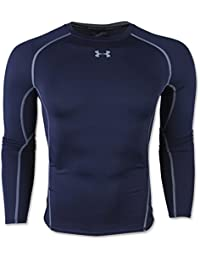 Under Armour Ua Hg Armour Ls, Camiseta de Compresión de Manga Larga Para Hombre, Azul (Midnight Navy/Steel), XX-Large
