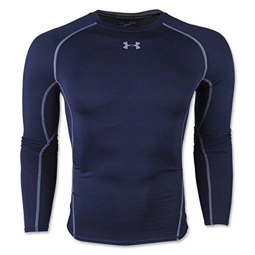 Under Armour Herren HeatGear Armour Unterhemd, Blau midnight navy, Gr. L Herstellergröße LG