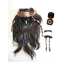 Jack sparrow-style (peluca con barba) & amp; Sombrero * brújula también Set (peluca con barba))