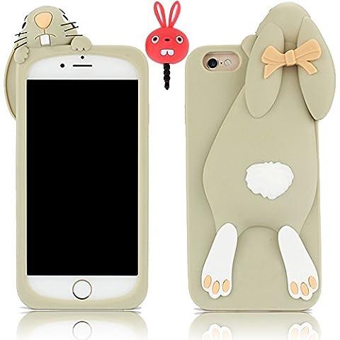 Vandot 2et1 Mode Bande dessinée 3D Rabbit Lapin Gris Buck