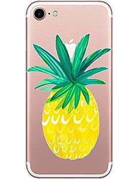 Carcasa Iphone 7 Funda Iphone 7 TPU Case Suave Cover Dibujos Patrón Divertido Silicona