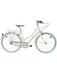 "Fabric City Bicicleta de Paseo- Bicicleta de Mujer 28"", Cambio Interno Shimano 3V, 5 Colores, 14kg (Cream Stokey, 45)"