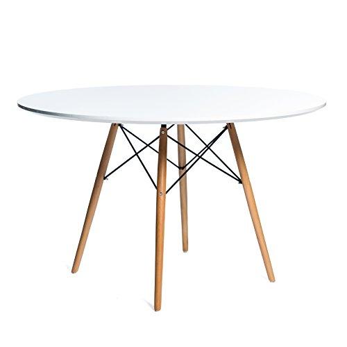 Noorsk Design Mesa de Comedor o Cocina Redonda Karelia2 100 ...