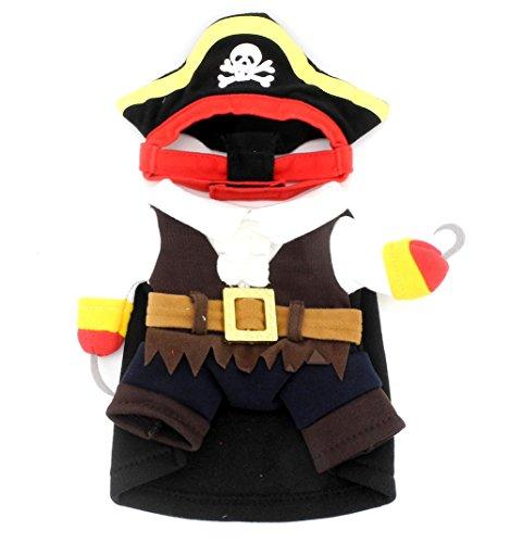 smalllee _ Lucky _ store Kleiner Hund Pirat Kostüm Kleidung für kleine Hunde Katze Puppy unter 20Pfund (Xx Kleine Hund Kleidung)
