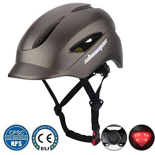 KINGLEAD Casque de vélo avec lumière LED, unisexe, casque de vélo pour course à pied,...