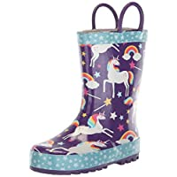 Western Chief Girls Kids Unicorn Dreams Rain Boot, Purple, 8 M US Toddler
